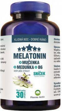 Melatonin Premium Mučenka Meduňka B6 30 tablet
