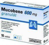 Mucobene 600mg gra.10x3gm/600mg-SA