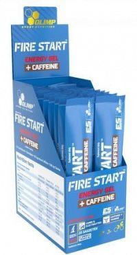 OLIMP, FIRE START™, ENERGY GEL+CAFFEINE, 36g, Černý rybíz