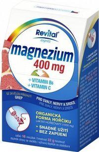 Revital Magnezium 400mg + vit.B6 + vit.C 16 sáčků