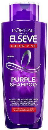 Šampon pro melírované, blond a stříbrné vlasy Elseve Color-Vive Purple (Shampoo) 200 ml