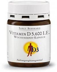 Sanct Bernhard Vitamin D 5.600 IU postupné uvolňování 26 kapslí