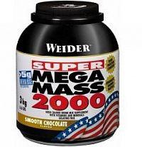 SUPER Mega Mass 2000, Gainer, Weider, 3000 g, Jahoda