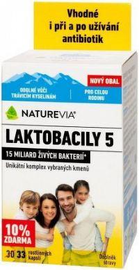 Swiss NatureVia LAKTOBACILY 5 cps.33