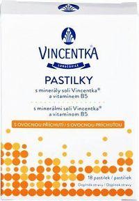 Vincentka pastilky ovocné 18 ks