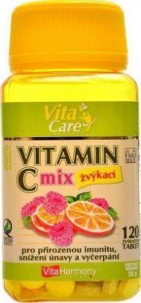 VitaHarmony Vitamin C 100mg MIX 120 žvýk. tbl.