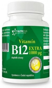 Vitamín B12 EXTRA 1000mcg tbl.30