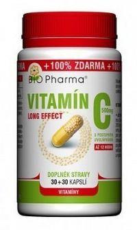 Vitamín C 500mg long effect cps.30+30 BIO-Pharma