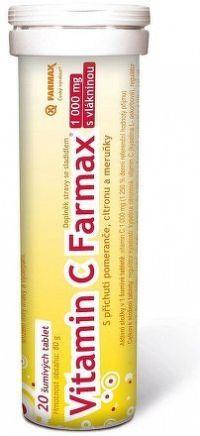 Vitamin C Farmax 1000mg 20 šumivých tablet