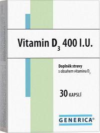 Vitamin D3 400 I.U. Generica cps.30
