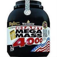 Weider, Giant Mega Mass 4000, Gainer, 3000 g, Cranberry-Yogurth