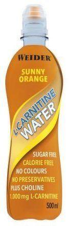 Weider L-Carnitine Water, 500 ml, Sunny-Orange
