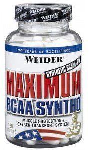 Weider, Maximum BCAA Syntho, 120 kapslí