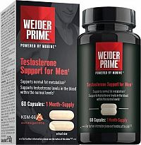 Weider PRIME TESTROSTERONE SUPPORT FOR MEN, 60 CAPS