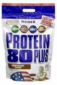 Weider, Protein 80 Plus, 2000 g, Čokoláda