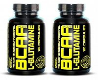 1 + 1 Zdarma: BCAA plus L-Glutamine od Best Nutrition 120 kaps. + 120 kaps.