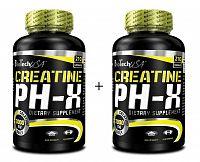 1 + 1 Zdarma: Creatine pH-X - Biotech USA 90 kaps. + 90 kaps.