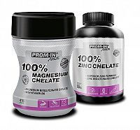 100% Magnesium chelát + 100% Zinc chelát - Prom-IN 416 g + 120 kaps. Grep