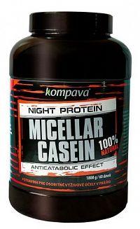 100% Natural Micellar Casein - Kompava 1800 g čoko/pomaranč