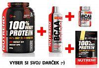 100% Whey Protein - Nutrend 2250 g + 1000 ml. Vanilka
