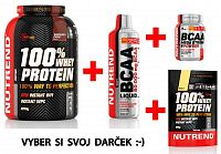 100% Whey Protein - Nutrend 2250 g + N1 (10x17g) Biscuit cream