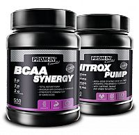 Akce: BCAA Synergy + Nitrox Pump - Prom-IN 550 g + 750 g Raspberry