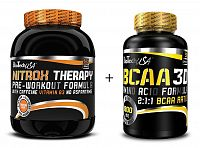 Akce: Nitrox Therapy New + BCAA 3D Zdarma - Biotech USA 680 g + 90 kaps. Grapefruit