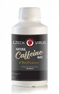 Caffeine Max 200 + Bioperine - Czech Virus 100 kaps.