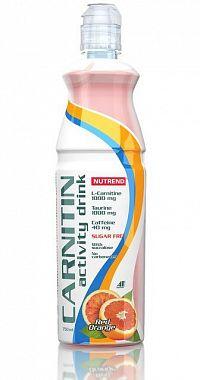Carnitin Activity Drink s kofeinem od Nutrend 1ks/750ml Čierna ríbezľa