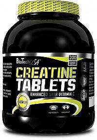 Creatinové tablety s příchutí - Biotech USA 200 tbl Citrón