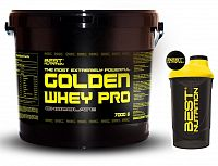 Golden Whey Pro + Šejkr Zdarma od Best Nutrition 7,0 kg Čokoláda+Banán