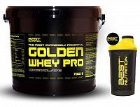 Golden Whey Pro + Šejkr Zdarma od Best Nutrition 7,0 kg Vanilka