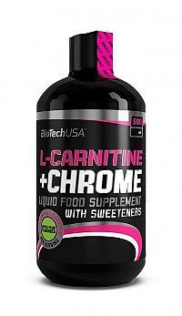 L-Carnitine 35000 mg + Chrome 5mg - Biotech USA 500 ml Hruška+Jablko