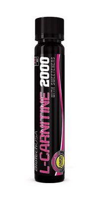 L-Carnitine Ampule 2000 - Biotech USA 25 ml. Ampulka Citrón