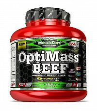 OptiMass Beef Anabolic Gainer - Amix 2500 g Double White Chocolate