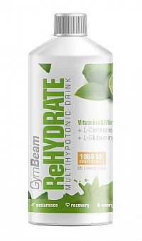 Rehydrataci - GymBeam 1000 ml. Lemon Lime