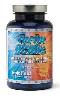 Turbo BCAAs - Goldfield 120 kaps.