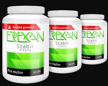 Erexan Stabil: recenze, účinky, cena, balení, zkušenosti