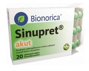 Sinupret Akut – recenze. Příbalový leták, složení, zkušenosti