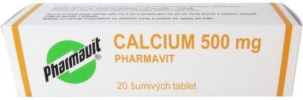Calcium 500mg Pharmavit por.tbl.eff.20x500mg
