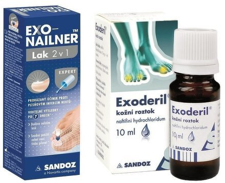 Exonailner Lak 2v1 5ml + Exoderil 10ml/100mg