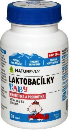 Swiss NatureVia Laktobacílky baby cps.30